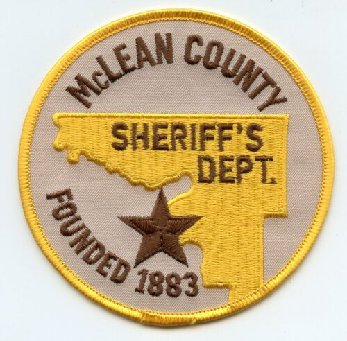 McLEAN COUNTY NORTH DAKOTA ND SHERIFF POLICE PATCH