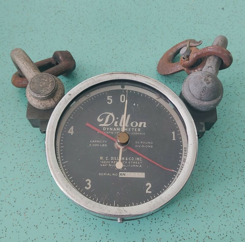 DILLON DYNAMOMETER - UNTESTED - 5000 LB CAPACITY - 50 POUND DIVISIONS