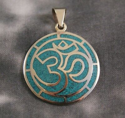Anhänger OM ~ Silber ~ Türkis (679)