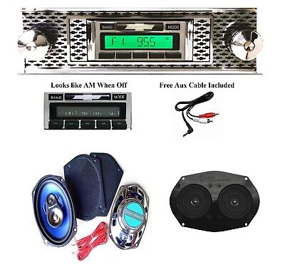 1955 Chevy Bel Air Radio + Stereo Dash Replacement Speaker + 6x9's ** 630