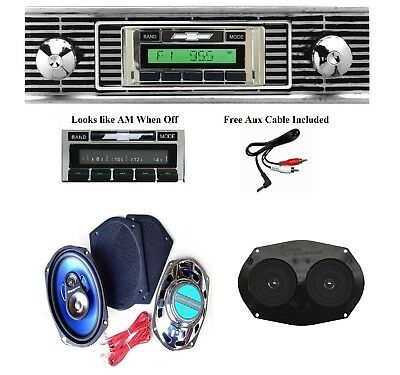 1956 Chevy Car Radio + Stereo Dash Replacement Speaker + 6x9's ** 630
