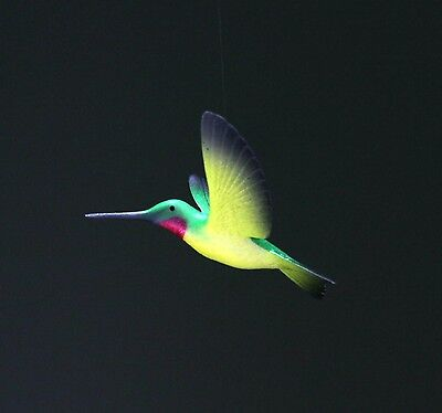 HUMMINGBIRD Mobile Sculpture by JOHN PERRY New direct from Statue Green/Yellow