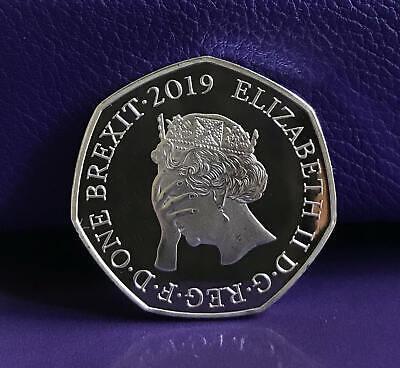 BREXIT 50p Coin Shaped Bu Medal Original No Idea Design Unofficial collectable