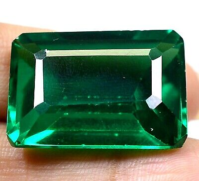 AAA Colombian 59.25Ct Natural Green Emerald Shape Loose Gemstone Certified F4271