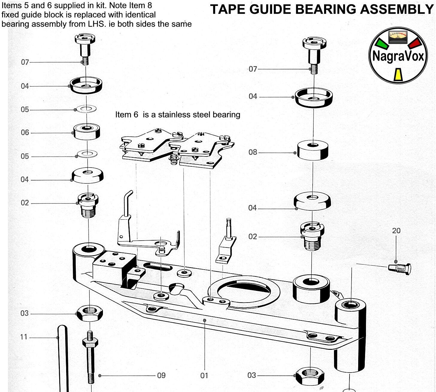 revox tape repair upgrade kits  u0026 spares a77  b77  pr99