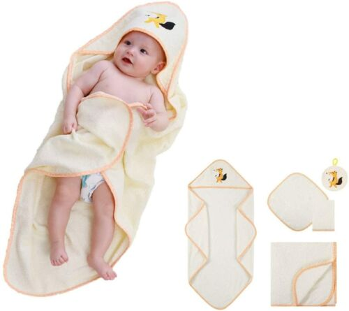 Baby Towel, Soft Hypoallergenic Baby Bath Towel Set for Boys, Girls and Infants