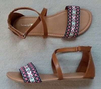 AMERICAN EAGLE Girls Shoes SANDALS Slide SLIPPERS COACHELLA Size 6 Womens 7 NEW for sale  Shipping to Nigeria