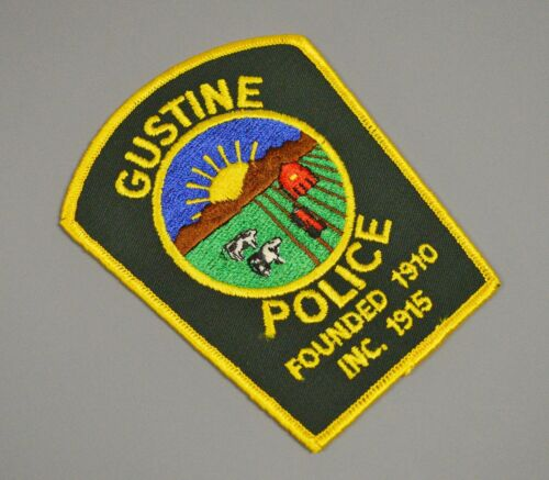 Gustine California 1986-1989 Police Patch ++ Mint Merced County CA