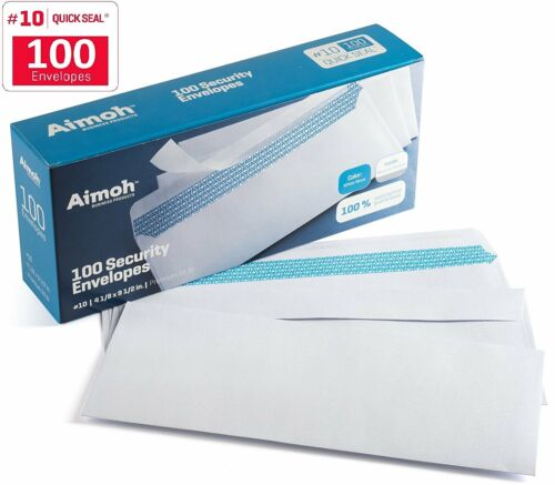 100 #10 Security SELF SEAL Envelopes