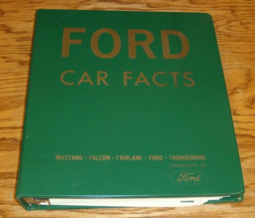 Original 1966 Ford Car & Truck Facts Dealer Showroom Album Mustang Thunderbird