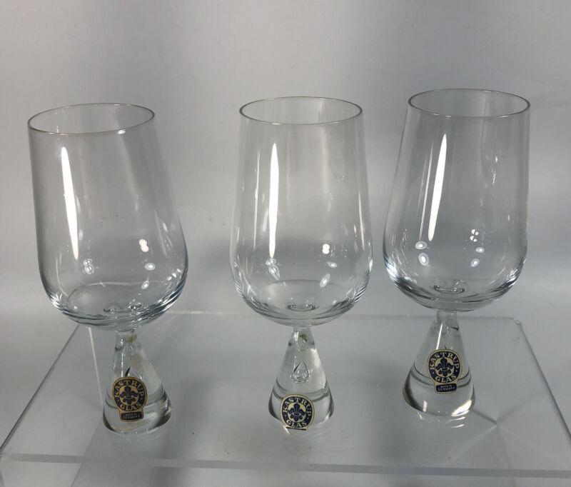 Set Of 3 Vintage MCM Scandinavian Kastrup Holmegaard Princess Whiskey Taster