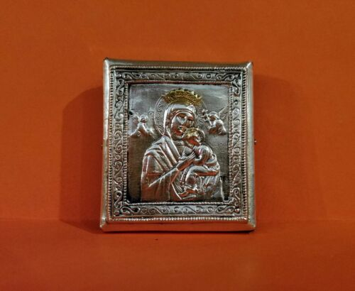 Silver Plated Icon of Perpetual Help Polish Handcraft