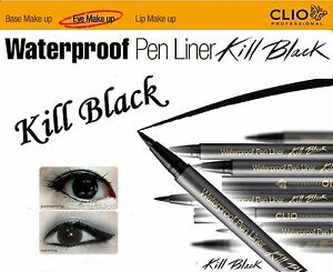 [CLIO]NEW Waterproof Pen Eye Liner Kill Black with K-pop Star Hyo-Ri,NIB,EYE
