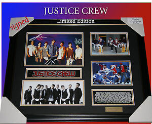 JUSTICE CREW MUSIC MEMORABILIA SIGNED FRAMED LIMITED EDITION 499