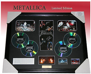 METALLICA 4CD MEMORABILIA SIGNED FRAMED LIMITED EDITION TO 499 with C.O.A