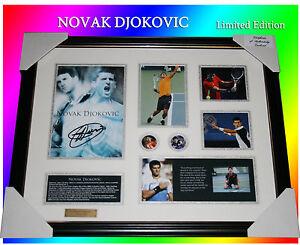 NOVAK-DJOKOVIC-TENNIS-MEMORABILIA-SIGNED-FRAME-LIMITED-EDITION-499-w-C-O-A