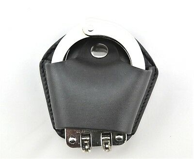 Handcuff Case -Leather Handcuff Pouch for plain clothes (standard belts).