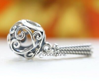 Authentic Pandora Sterling Silver Enchanted Heart Tassel Pendant Charm 797037