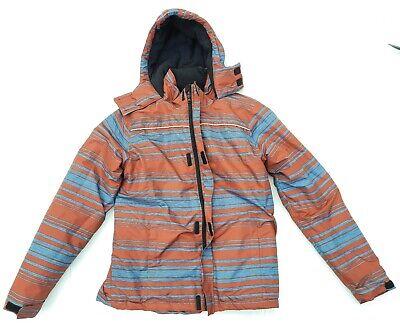 Iceberg Unisex Hoodie Winter Jacket Horizontal Red Silver Stripes 18/Large 68986
