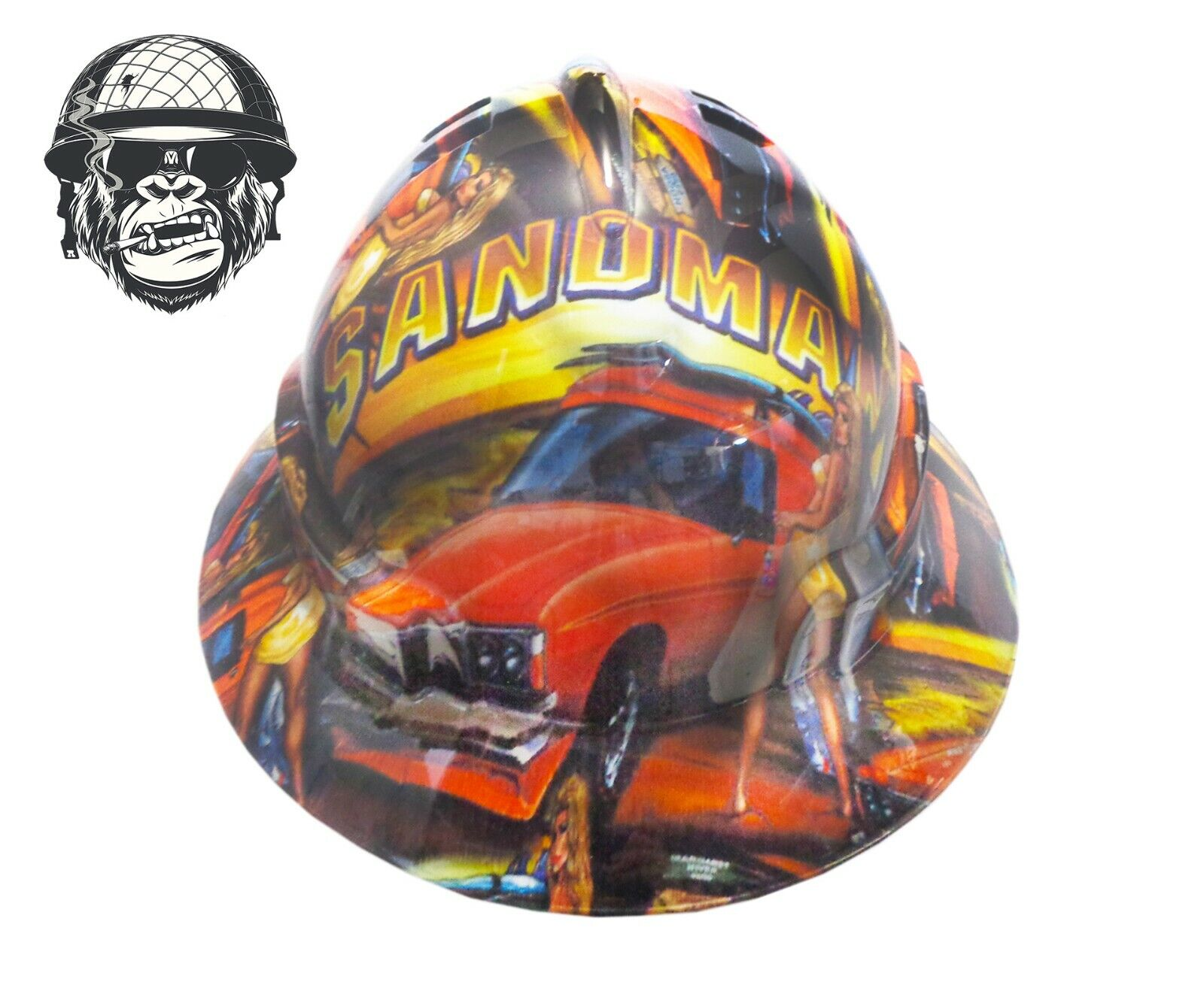 Custom Hydrographic Safety Hard Hat Mining Industrial Panelvan SANDMAN WIDE