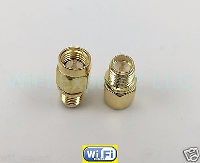 1x SMA male plug To RP-SMA female both male center Straight RF connector