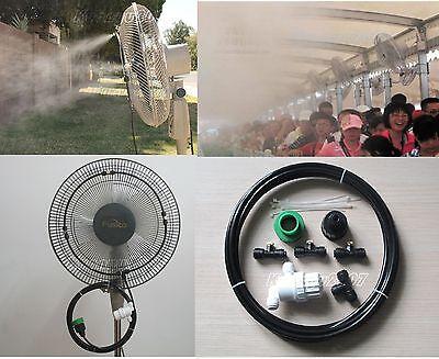 14 Slip-lok Connect Diy Kit- Misting Fan - 3 Brass Nozzles Water Misting