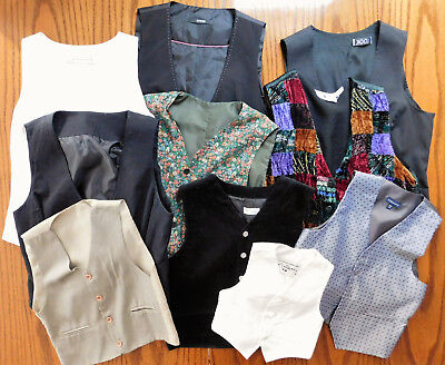 10 childrens waistcoats job lot IMPERFECT school play stage costumes girl boy D