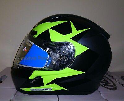 HJC CL-17 Frameless Electric Snowmobile Helmet Ragua HI-VIZ S SM Small Snell