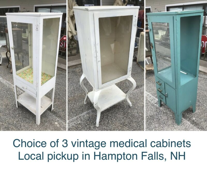Vintage Medical / Dental Cabinets — iNdUsTrIaL mEtAl sTeEl rEtRo vIntAgE