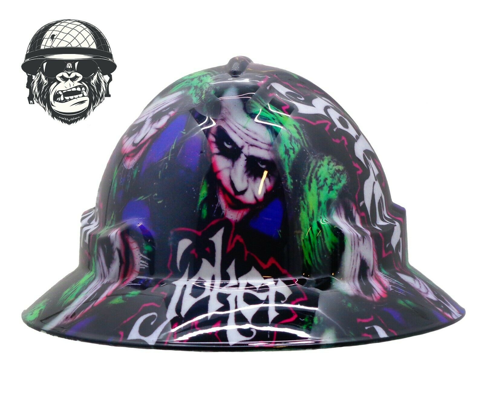 Custom Hydrographic Wide Brim Safety Hard Hats Joker HEATH WIDE
