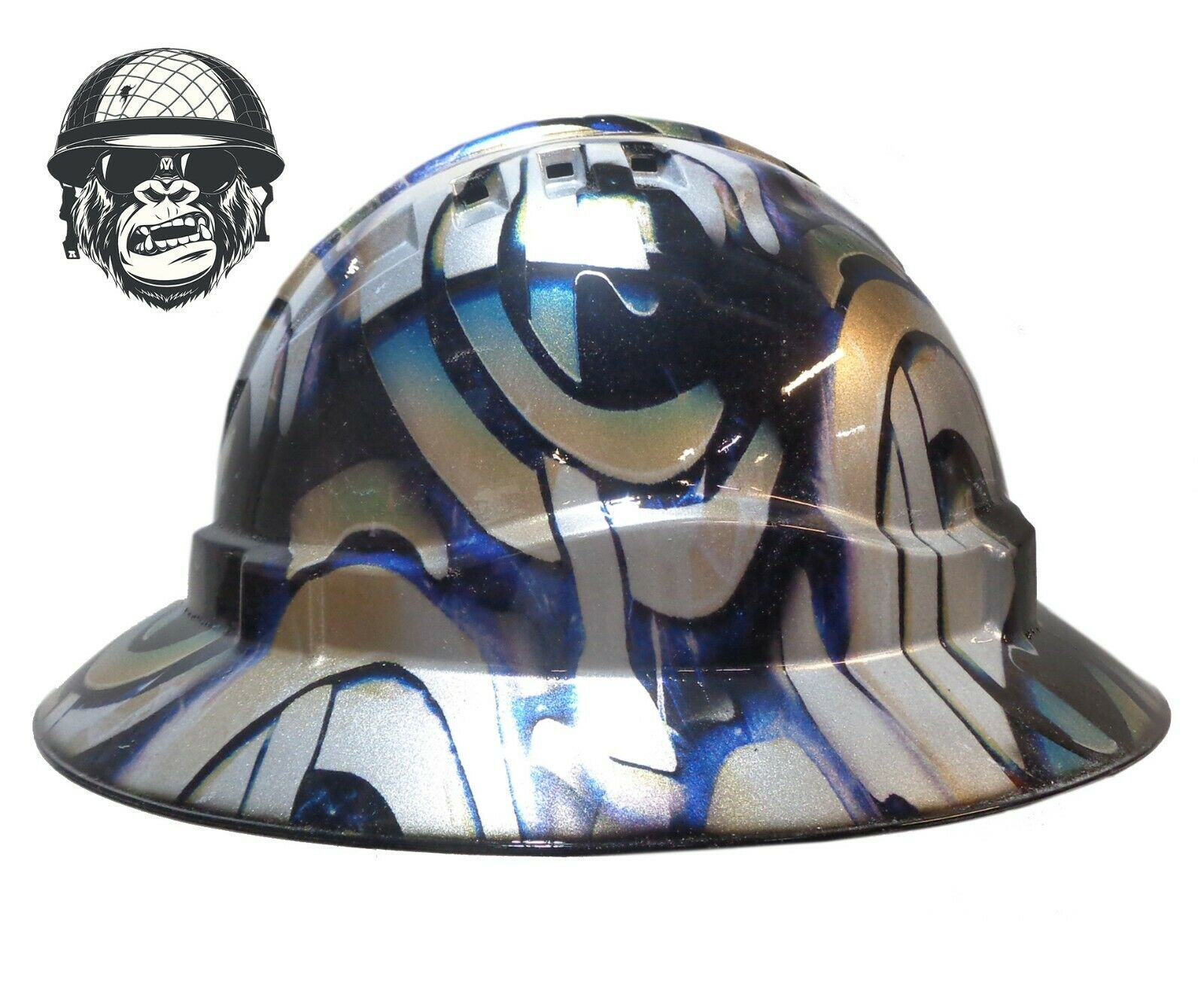Custom Hydrographic Safety Hard Hat Industrial Mining - CARLTON WIDE
