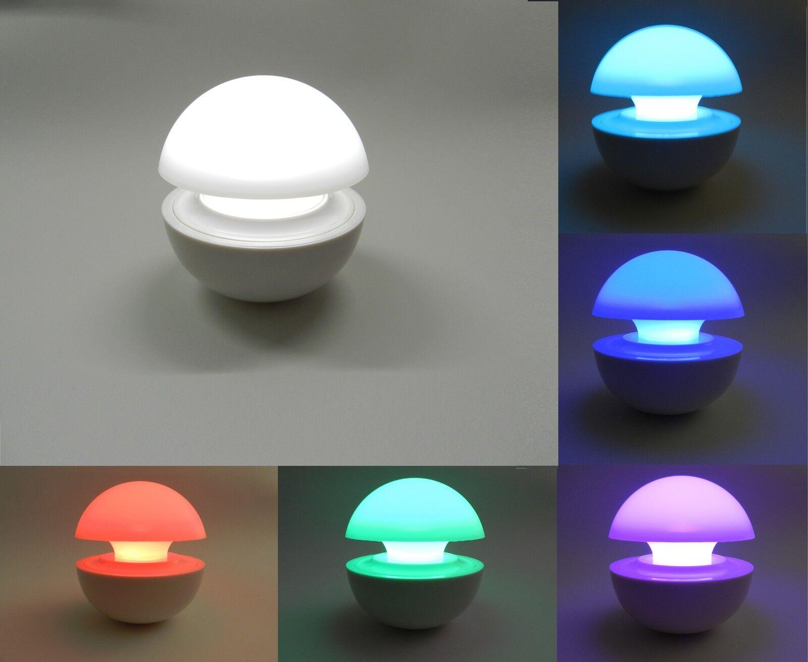 Lumino lampada led colori cromoterapia da tavolo comodino for Lampada led interno