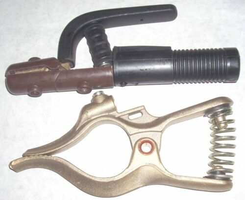 Jackson 300A Electrode Holder & Tweco style Brass Ground Clamp 300A Welding