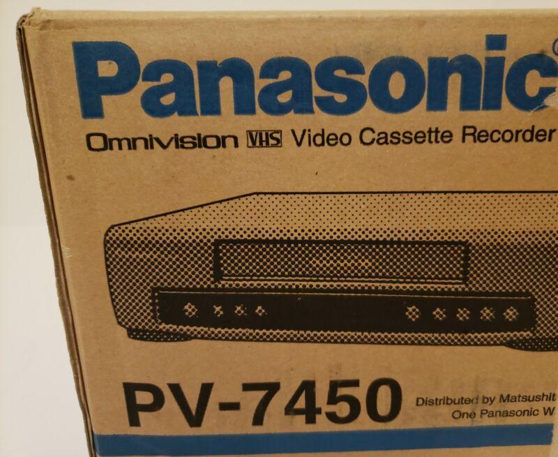 Panasonic 4 head HI FI VCR/VHS player/recorder  PV7450 Brand New Sealed