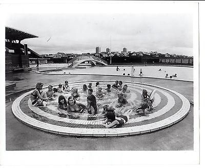 1960's press photo swimsuits fashion teen girls children pool Reykjavík, Iceland
