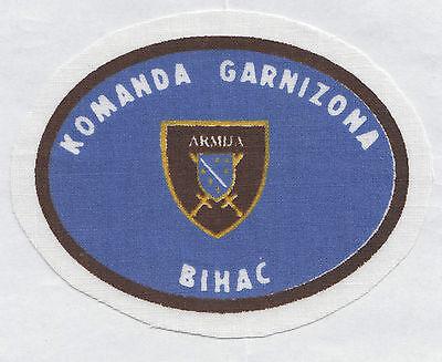 BOSNIA ARMY -  COMMAND OF GARISSON - BIHAC, scarce war time sleeve patch
