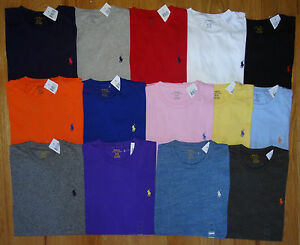 Polo-Ralph-Lauren-Brand-New-NWT-CREWNECK-Logo-T-Tee-Shirt-Sizes-S-M-L-XL-XXL