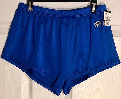 WAS $22.95 NWT! GK Elite Mens Blue Gymnastic Competition Running Shorts Size AS