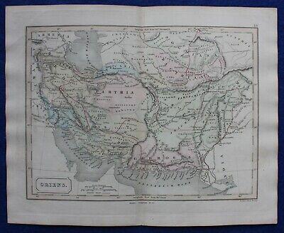 ANCIENT PERSIA, PARTHIA, MEDIA, MIDDLE EAST, original antique map, Butler, 1851
