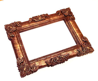 Full Sale Original Brown Photo Frame Covered With Gold Patina WorldwideDelivery