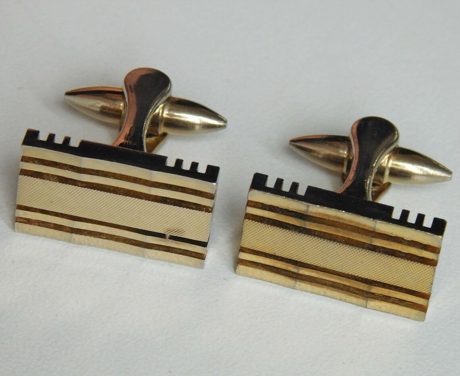 Vintage 1970s Stratton gilt cufflinks mens classic English jewellery il