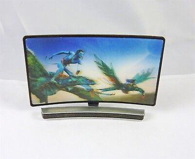 Dollhouse Miniature 1:12 Scale Curved Screen 3D TV with Fantasy Scene, G7526