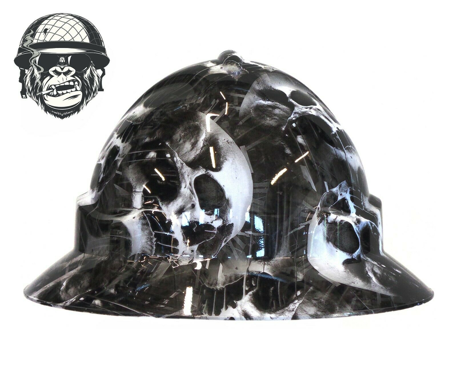 Custom Hydrographic Safety Hard Hat Industrial Mining Construction - FURY WIDE