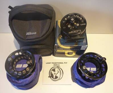 Loop Model 1.5 fly fishing reel with two extra spools and backing Blackmans Bay Kingborough Area Preview