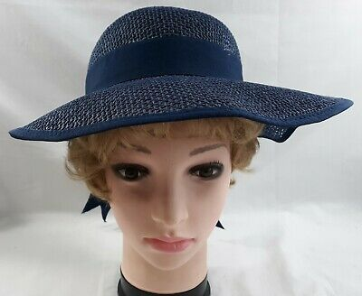 Womens Spring Summer Sun Hat Navy Blue Church Easter Fashion Accessory 5585B](Womens Easter Hats)