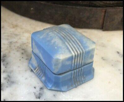 Vintage Art Deco Mottled Blue Bakelite Casecraft Ring Box
