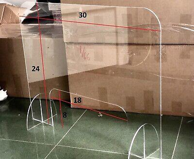 Sneeze Guard Acrylic Plexiglass Table Desk Counter Shield 30w X 24h X 14 In