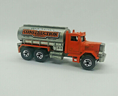 Hot Wheels 1982 Workhorses Peterbilt California Construction Tanker AS IS read