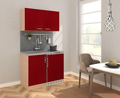 Kitchen Mini Kitchen Set Pantry Complete Unit 100 cm oak Rough Sawn Red respekta for sale  Shipping to Ireland