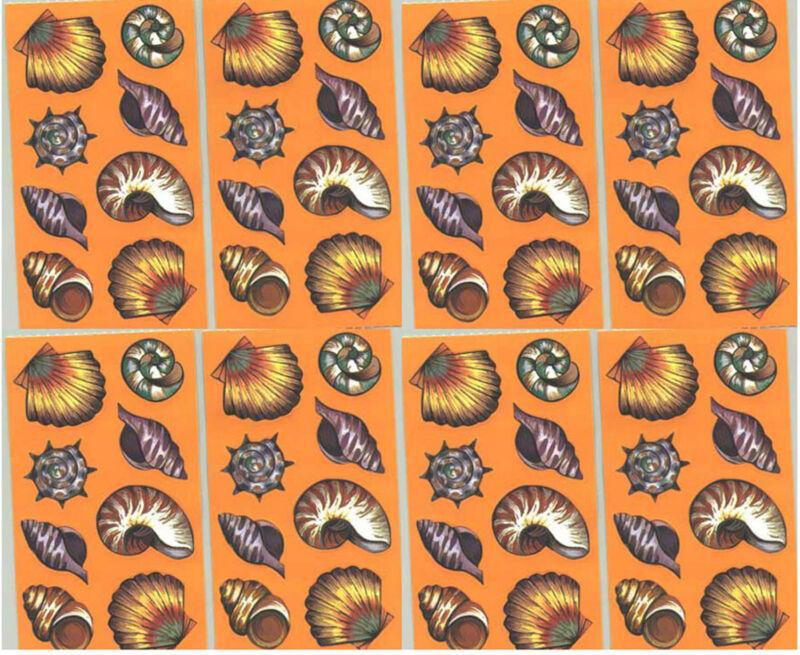 Frances Meyer SEA SHELLS Beach Scrapbook Stickers! 8 Sheets